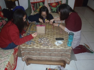 Jigsaw puzzle on New Year's Eve